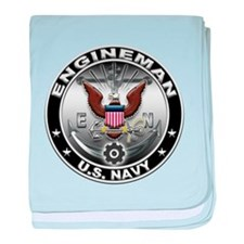USN Engineman Eagle EN baby blanket