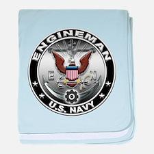 USN Engineman Eagle EN baby blanket