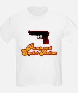 Pump and Squirt Action Kids T-Shirt