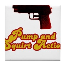 Pump and Squirt Action Tile Coaster