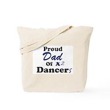 Dad of 2 Dancers Tote Bag