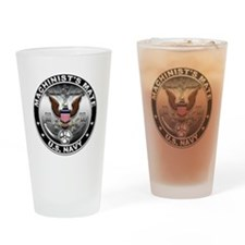 USN Machinists Mate Eagle MM Drinking Glass