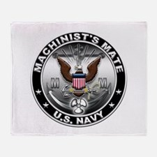 USN Machinists Mate Eagle MM Throw Blanket