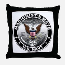 USN Machinists Mate Eagle MM Throw Pillow