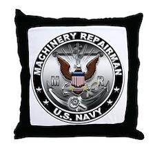 USN Machinery Repairman Eagle Throw Pillow