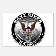 USN Navy Diver Eagle ND Postcards (Package of 8)