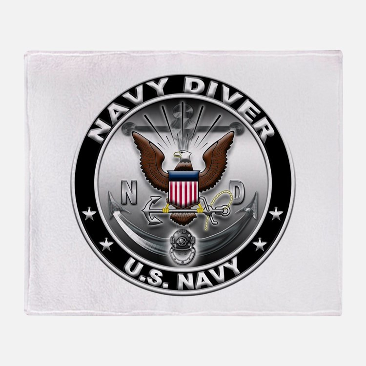 USN Navy Diver Eagle ND Throw Blanket