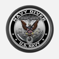 USN Navy Diver Eagle ND Large Wall Clock