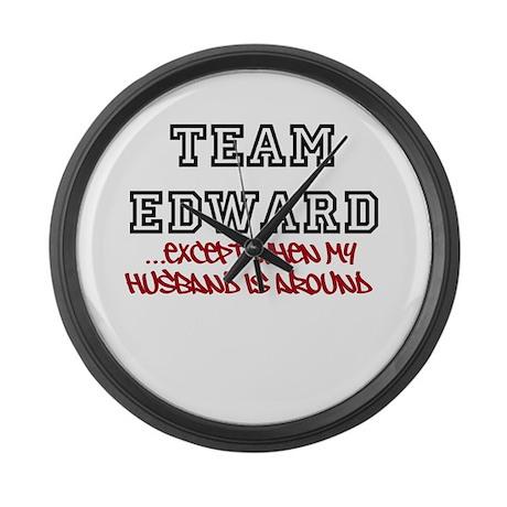 Team Edward X Husband Large Wall Clock