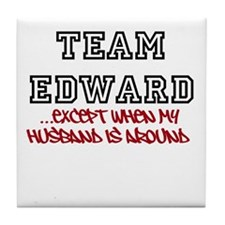 Team Edward X Husband Tile Coaster