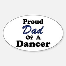 Dad of a Dancer Oval Decal