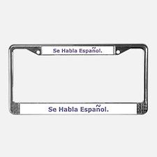 Se Habla Espanol. License Plate Frame