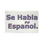Se Habla Espanol. Rectangle Magnet (10 pack)