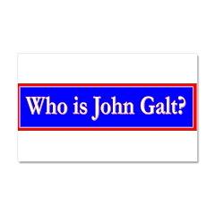 John Galt Car Magnet 20 x 12
