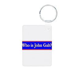John Galt Aluminum Photo Keychain
