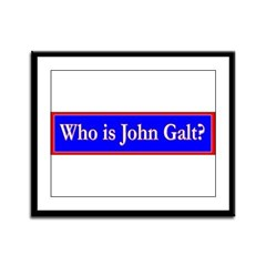 John Galt Framed Panel Print