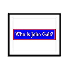 John Galt Framed Panel Print
