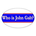 John Galt Sticker (Oval 10 pk)
