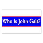 John Galt Sticker (Rectangle 50 pk)