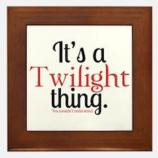 Twilight Thing Framed Tile