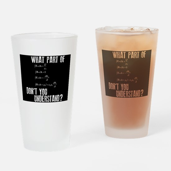 Funny Math Equation Drinking Glass
