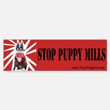 Unique Stop puppy mills Sticker (Bumper 10 pk)