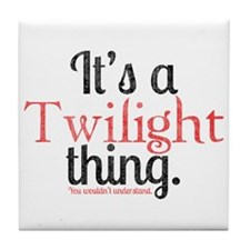 Twilight Thing 2 Tile Coaster