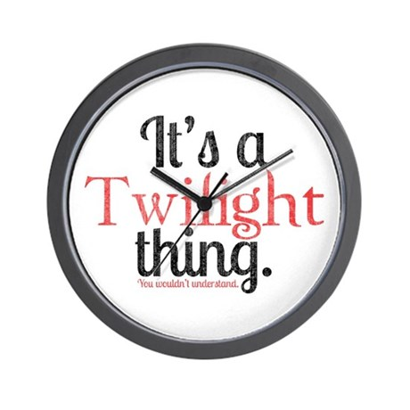 Twilight Thing 2 Wall Clock