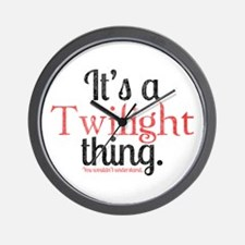 Twilight Thing 2 Wall Clock
