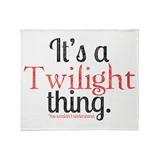 Twilight Thing 2 Throw Blanket