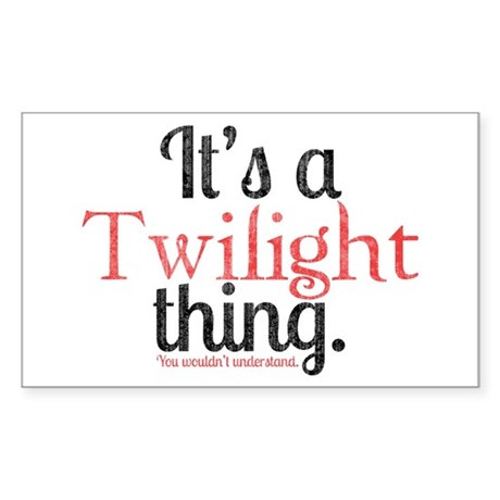 Twilight Thing 2 Sticker (Rectangle)