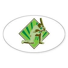 cricket batsman retro Stickers