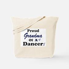 Grandma of 4 Dancers Tote Bag