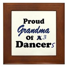 Grandma of 3 Dancers Framed Tile