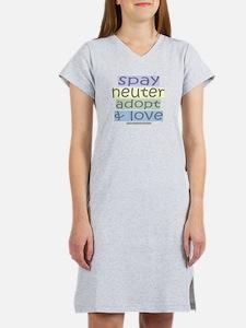 Spay/Neuter/Adopt/Love Women's Nightshirt