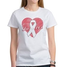 Lung Cancer Survivor Heart Tee