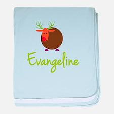 Evangeline the Reindeer baby blanket