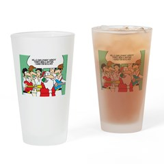 Santa's Rockin Christmas Drinking Glass