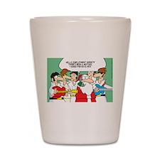 Santa's Rockin Christmas Shot Glass