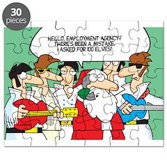Santa's Rockin Christmas Puzzle