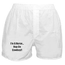 I'm a Horse-Black Boxer Shorts