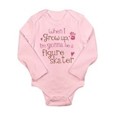 Kids Future Figure Skater Long Sleeve Infant Bodys