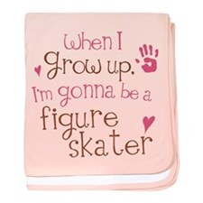 Kids Future Figure Skater baby blanket