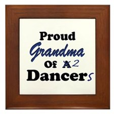 Grandma of 2 Dancers Framed Tile