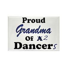Grandma of 2 Dancers Rectangle Magnet