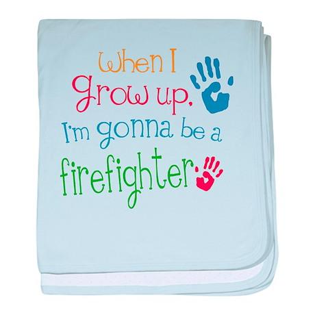 Kids Future Firefighter baby blanket