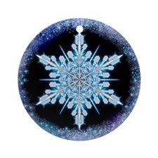 August Snowflake Ornament (Round)