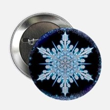 """August Snowflake 2.25"""" Button"""