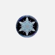 August Snowflake Mini Button
