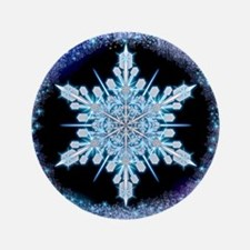 """August Snowflake 3.5"""" Button"""